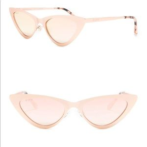 DIFF Cat eye rae matte rose gold gradient lens